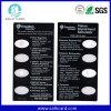 Transparente Plastik-Belüftung-Visitenkarte verwendet als Förderung