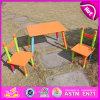 Nova mesa de madeira e cadeiras para crianças, mesa popular e duas cadeiras para crianças, mesa de madeira e cadeiras de madeira coloridas Wo8g086