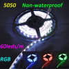 Tira flexible No-Impermeable de SMD5050 los 60LEDs/M 14.4W DC12V RGB LED