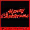 赤い花輪LEDのクリスマスの照明のメリークリスマスの文字