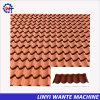 Дешевые металлические материалы Крыши с покрытием из камня современной миниатюры на крыше