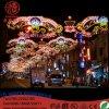 休日の街灯のための通りのモチーフライトを渡るDiwaliの屋外の照明LED
