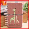Cahier rouge de Spial d'agenda de livre À couverture dure de giraffe mignonne