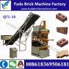 Qt1-10油圧Legoのブロック機械粘土土の煉瓦機械