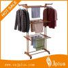 Three Layer Wood Grain Clothes Rack com plástico ABS Jp-Cr300W2