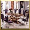 ホームダイニングテーブルセットまたは食堂の家具かガラスダイニングテーブル