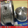 Disco de la oblea del acero inoxidable solo que inclina la válvula de cheque