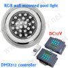 DMX 512 RGB Waterdichte IP68 LEIDEN RGB Zwembad Onderwater Lichte 12V