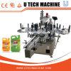 Completa automática de doble plaza lateral Botella adhesivo Máquina de etiquetado