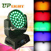 RGBWA Wash 36 * 15W LED 5en1 zoom luz de DJ