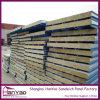 Los paneles de pared a prueba de fuego del panel sándwich de acero compuesto de lana de roca