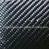 hoja verdadera 3k 200g de la fibra del carbón de la tela cruzada del color negro