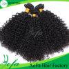 Fornitore della Cina superiore nessun riccio crespo brasiliano dei capelli umani di groviglio