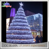 LEDによってつけられる屋外の大きいPVC人工的な巨大なクリスマスツリーライト