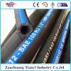 Manguito de goma hidráulico trenzado R3 R6 del aire de la buena calidad del manguito de la tela de goma flexible de la fibra
