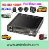 Full HD 1080P HD Mobile DVR Car Vehicle HDD Gravador de Vídeo Digital DVR com 4 Channel Support GPS Tracking