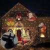 Projector holográfico LED removível 12 luz de projeção de filme Christmas Holiday Weeding Decoração Iluminação