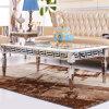 은 금속 다리를 가진 호화스러운 현대 비친 커피용 탁자