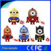 Оптовый популярный милый USB Pendrive супергероя миньона шаржа