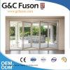 Porte en verre se pliante d'alliage d'aluminium avec la qualité