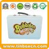 ハンドル、砂糖菓子の錫ボックスが付いている長方形の金属キャンデーの容器