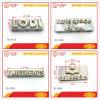 Kundenspezifische kleine Metallbriefe für Taschen, Qualitätsmetalllogos