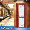 Puerta de madera del cuarto de baño del grano de la fabricación de China con la parrilla decorativa