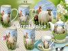 Nouvelles 2017 10oz Cute Animal Mug porcelaine fine