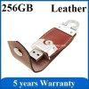 Lederne USB-Scheibe 256GB