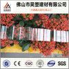 Folha corrugada de Guarrantee policarbonato Ten-Year Uv-Revestido para a tampa 840mm do edifício 930mm 1050mm
