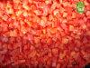 Le poivron rouge d'IQF découpe