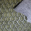 Bon marché gravé en relief Poisson-Écailler le tissu de cuir de sac d'emballage pour le sac