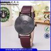 Montre de dames occasionnelle classique de quartz de courroie en cuir de mode d'ODM (Wy-105G)