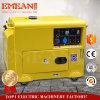 Spitzenverkaufenrückzug/leiser Dieselgenerator des elektrisches Anfangseinphasig-5kw/5kVA
