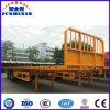 중국 반 평상형 트레일러 트레일러 트럭, 편평한 궤도 콘테이너, 판매를 위한 용접 트레일러