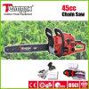 Démarrage facile Teammax 45cc de l'essence de scie à chaîne avec de vrais Certificat Euro II
