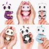 Panda bonito esperta do dedo do brinquedo interativo eletrônico colorido da panda dos peixes pequenos do presente do Natal da indução do animal de estimação