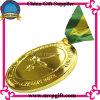 Il metallo mette in mostra la medaglia con l'incisione personalizzata di marchio 3D
