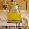 Heißer Verkaufs-großer Saft-Speicher-Glas-Getränkesammelbehälter-Glassaft-Behälter