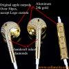 Auscultadores intra-auriculares com diamantes de ouro 24kt personalizados com controle remoto e microfone