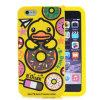3D caja Motorala G4 (XSDW-043) del teléfono del silicón del pato iPhone6s/6plus del amarillo de la historieta
