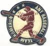 A equipa de basebol cola uniforme bordados emblema do Braço