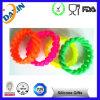 Bracelets de Wristband de silicone remplis par couleur de la coutume 1 de qualité