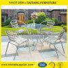 رخيصة ألومنيوم حديقة طاولة وكرسي تثبيت