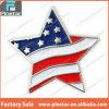 Pin patriottico del risvolto della bandiera americana a forma di stella