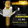 Le plus récent DIY Ss-M6 Wireless 4.0 Bluetooth Karaoke Mic Speaker Microphone Echo d'or avec écran LED et clip pour Android Ios