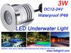 l'indicatore luminoso subacqueo IP68 di Xbd LED del CREE 3W impermeabilizza DC12-24V bianco, luce rossa verde, blu, per la piscina
