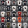 Le T-shirt de la qualité 160g de coton d'écran d'impression de l'homme fait sur commande de broderie du collet rond