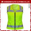 Veste profissional da segurança do verde do Workwear dos uniformes da segurança reflexiva (ELTHVVI-5)