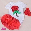 GroßhandelsChildren Clothing Baby Romper Girl Kid Clothing Infant Clothes mit Match Ruffle Skirt und Bow Headband Sets 0-2y